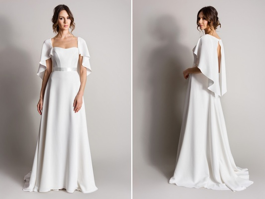 Wedding Gown With Cape: Wedding Dresses: Suzanne Neville's Songbird Collection