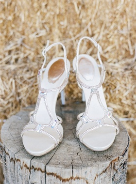 René Caovilla sandal heels with rhinestones