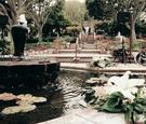 Serra retreat courtyard fountain