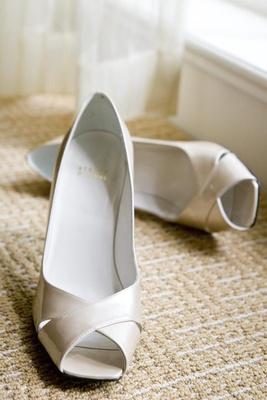 Stuart Weitzman white bridal shoes