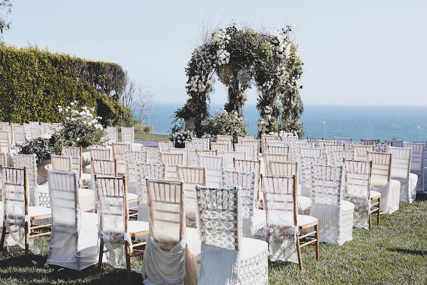 Bluebell Events wedding designer Charley Izabella King created this lovely outdoor ceremony for UFC
