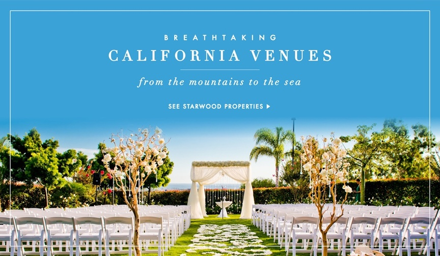 Beautiful California Starwood Hotels & Resorts wedding venues
