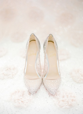 Christian Louboutin shoes with jewel embellishments