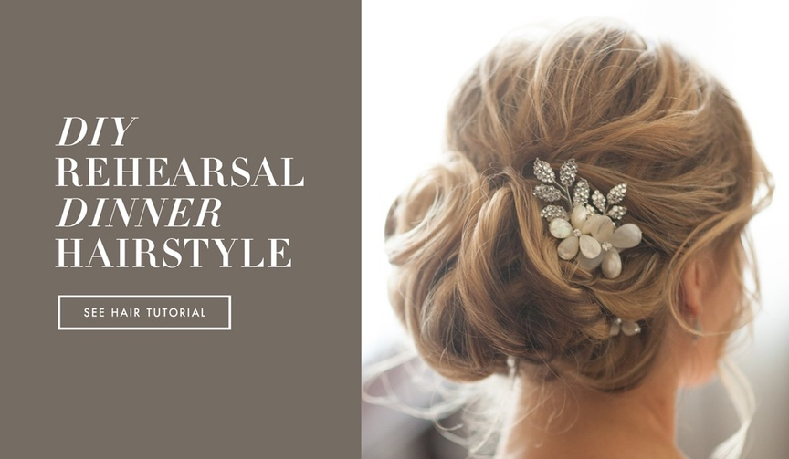 Bridal wedding hairstyle how-to tutorial for updo