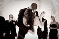 Alexandria Lopez and Joshua Smith dancing at reception
