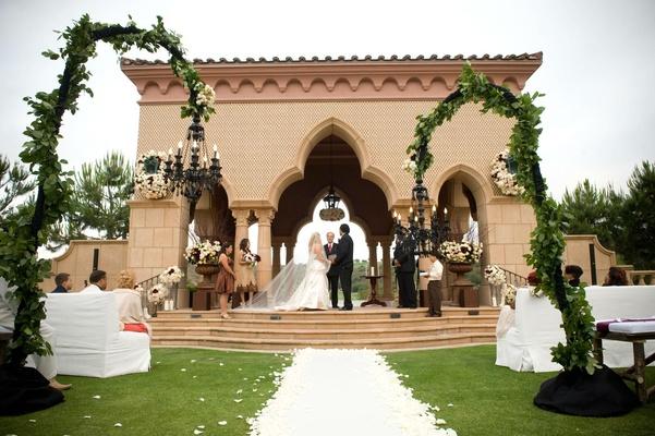 The Grand Del Mar outdoor pavilion wedding ceremony