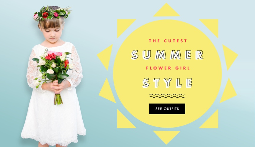 Summer flower girl style ideas and dresses