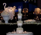 4 tiers of white cake