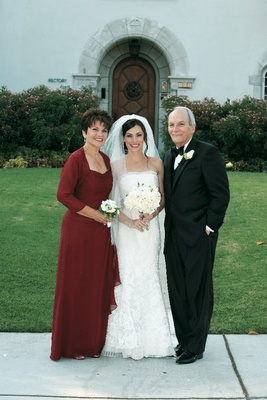 Mother-of-the-Bride long sleeve burgundy gown