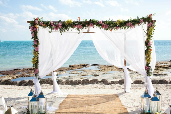 Sophisticated Beach Wedding In Key West Florida