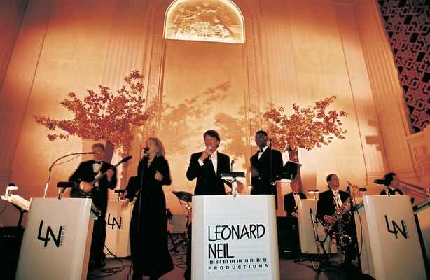 Leonard Neil Productions wedding band on stage
