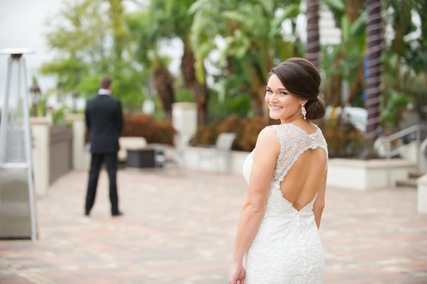 Vintage Wedding Dresses Florida: A Waterfront Winter Wedding With Blush + Gold Details In
