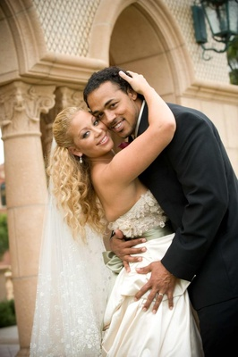 Green Bay Packers player Nicholas Barnett and bride
