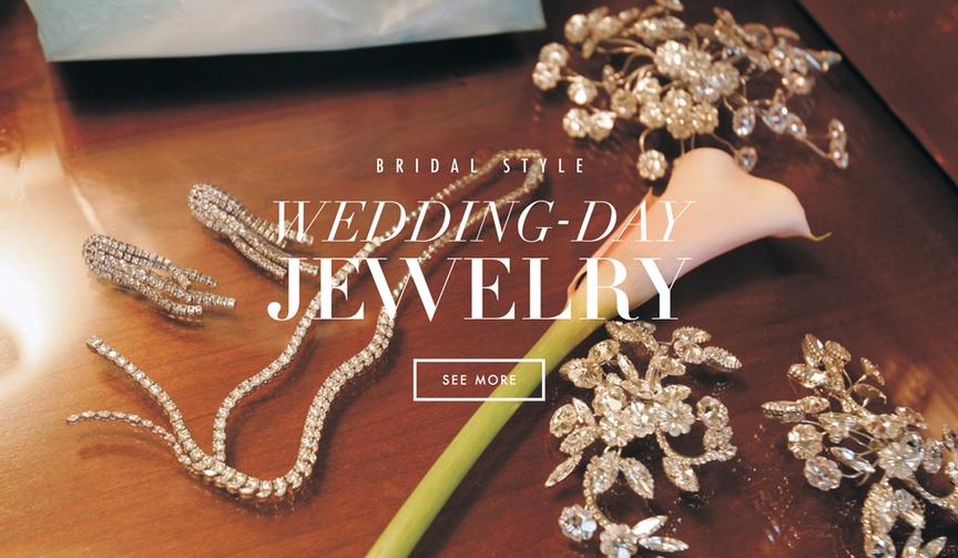 Bridal jewelry gemstones and earrings with diamonds