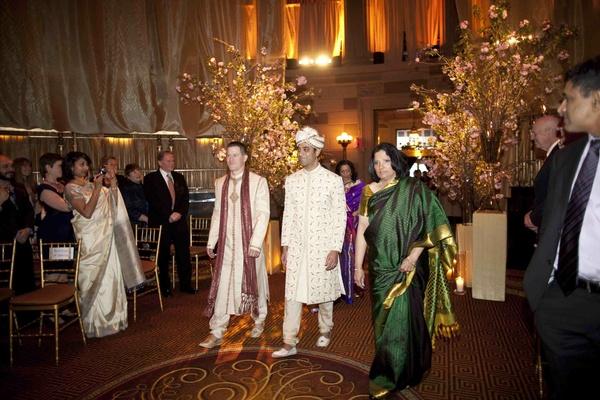 Groom enters Hindu Indian wedding ceremony