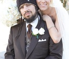 Korn bassist and bride on wedding day