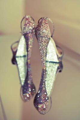 René Caovilla glitter platform heels