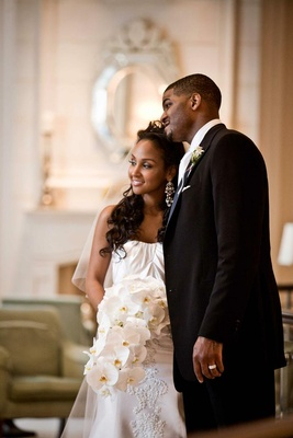 African-American couple after wedding ceremony