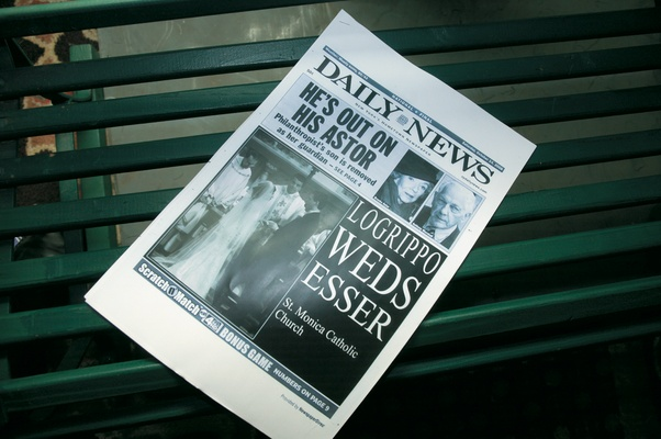 Daily News faux article about wedding