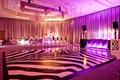 Samantha Ronson DJ station and animal print dance floor