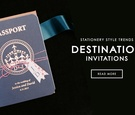 Passport wedding invitation for destination wedding
