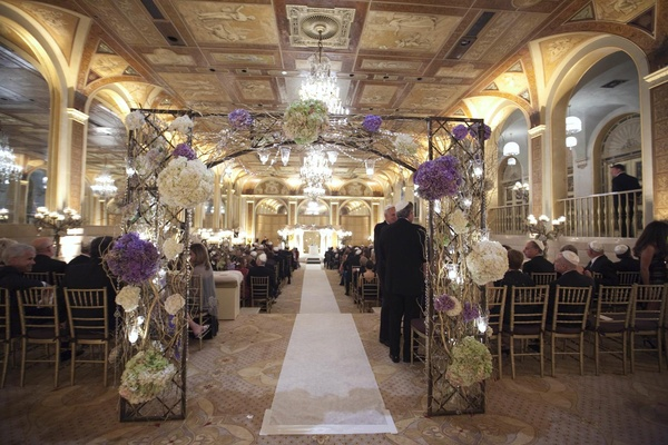 Wedding ceremony at the Terrace Room of The Plaza with