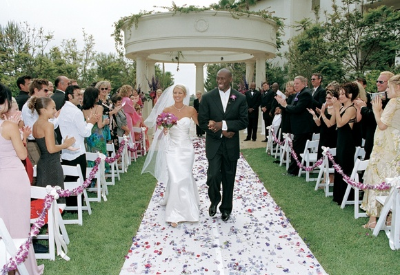Outdoor wedding at St. Regis Monarch Beach