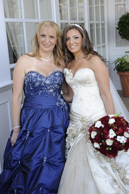 Fairy tale mother of the bride ball gown in royal blue