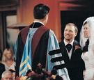 Robert Schuller married bride and groom