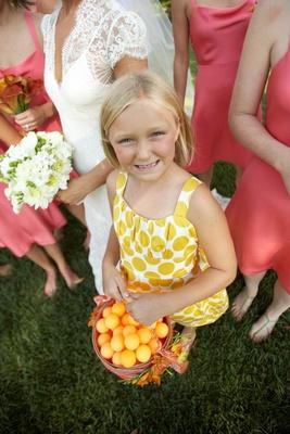 Polka dot summer flower girl dress