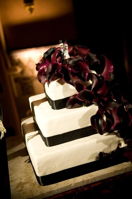 Dark Mexico inspired wedding cake dead dolls