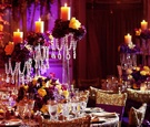 Indian wedding reception tables and decor
