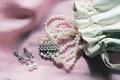 Ivory pearl bracelet and earring set