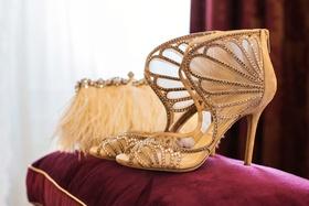 Jimmy Choo heels with butterfly wing shape