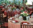 Tented reception at Greystone Mansion decor
