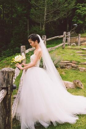 Tara Keely wedding dress with beaded bodice and tulle skirt