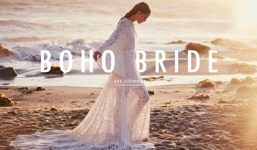 Boho Bride Wedding Dresses Free People Collection