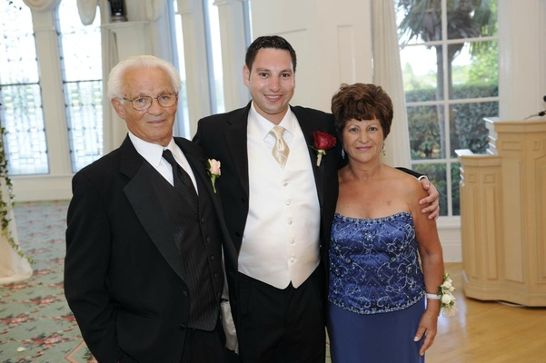Groom with father and mother of groom