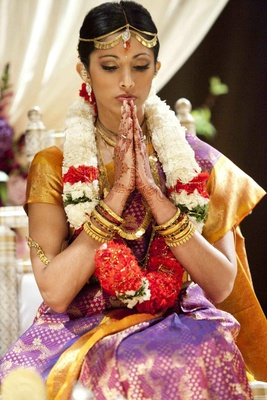 Actress Reshma Shetty at her Hindu Indian wedding ceremony