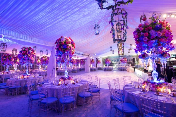 Pink Amp Purple Garden Inspired Tented Wedding In New York