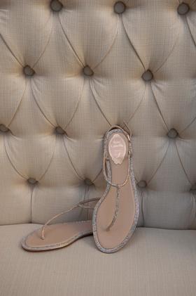 René Caovilla wedding sandals with crystals