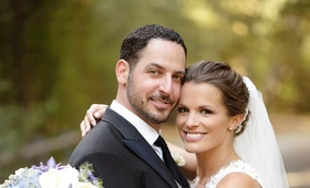 Soap opera star Melissa Claire Egan and husband on wedding day