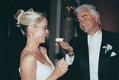 john o'hurley and wife at their wedding
