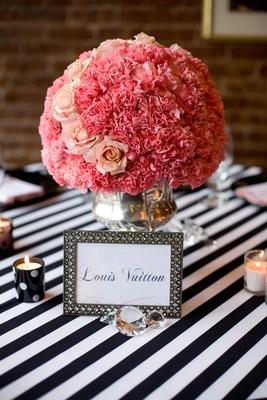 Black White Amp Pink Fashion Themed Bridal Shower Inside