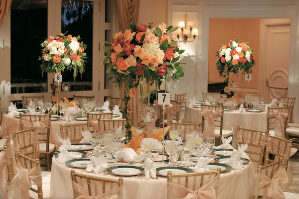 Elegant fall wedding in beverly hills california inside