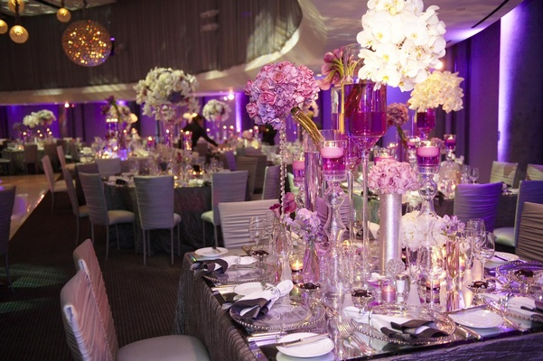 Glam Modern Wedding With Purple D 233 Cor In Los Angeles