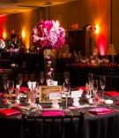 Pink and black Hotel Maya wedding reception theme