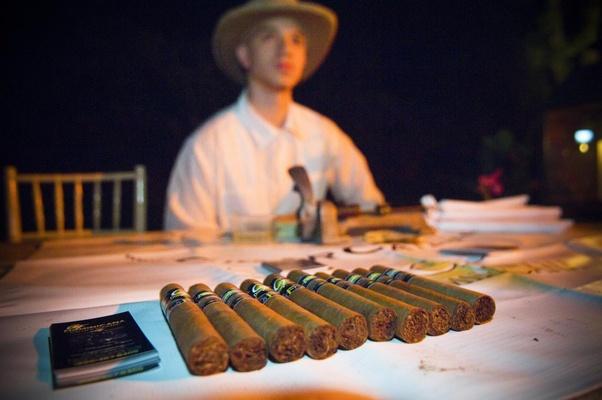 Cigar rolling station wedding