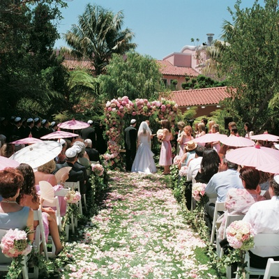 Garden Brunch Wedding Ceremony At The Beverly Hills Hotel Inside Weddings