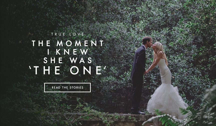 How grooms knew their bride was The One.